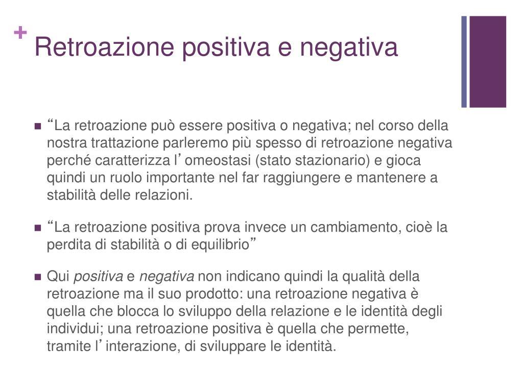 Retroazione positiva e negativa