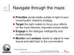navigate through the maze
