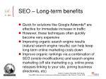 seo long term benefits