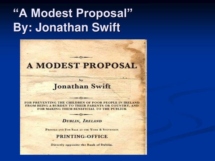 A modest proposal by jonathan swift