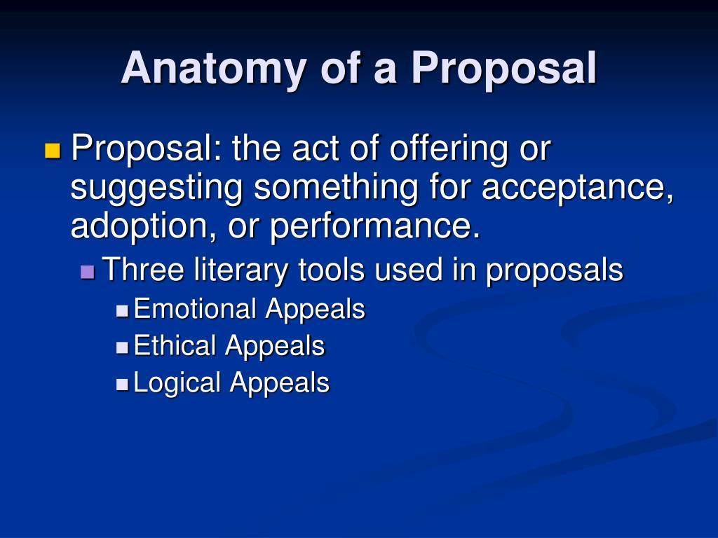 Anatomy of a Proposal