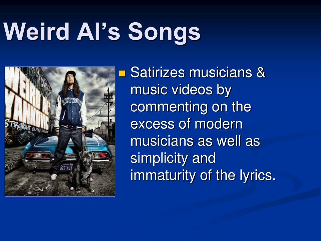 Weird Al's Songs