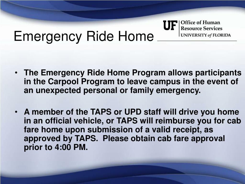 Emergency Ride Home