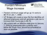 florida s minimum wage increase