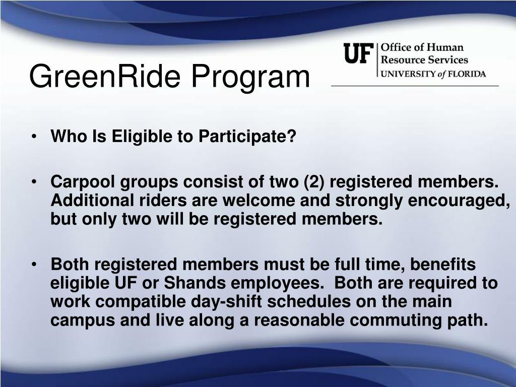 GreenRide Program