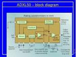 adxl50 block diagram