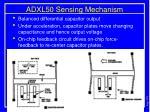 adxl50 sensing mechanism