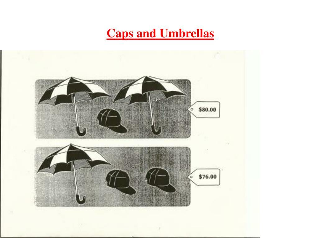 Caps and Umbrellas