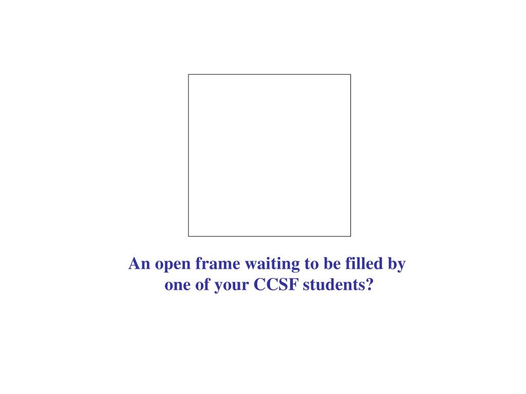 An open frame waiting to be filled by
