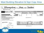 west building elevation sign copy area