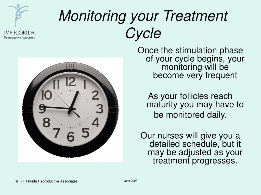 Monitoring your Treatment Cycle