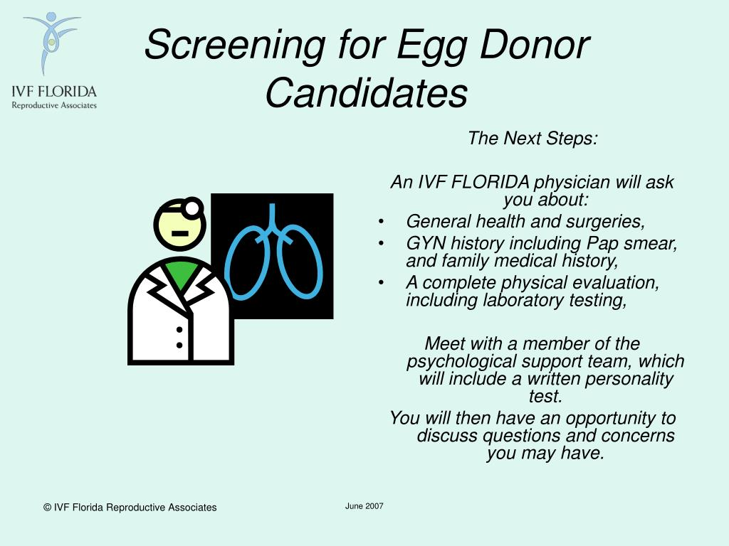 Screening for Egg Donor Candidates