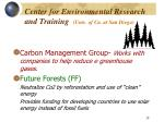 center for environmental research and training univ of ca at san diego