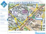 how to get to rohde schwarz