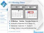 ivi meeting dates