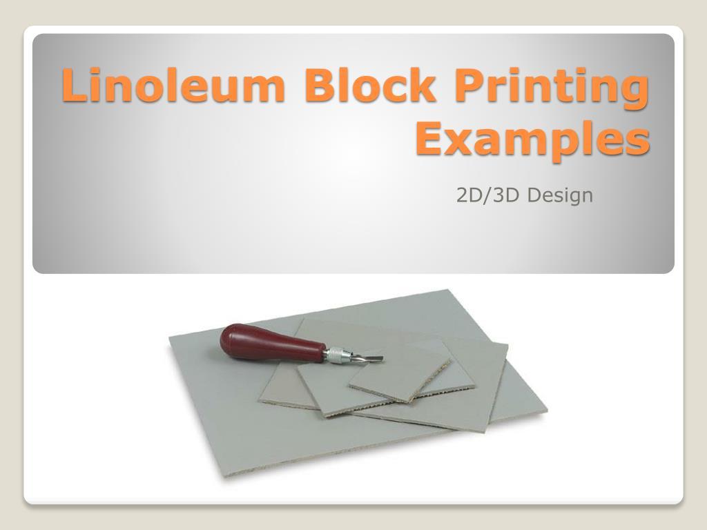 linoleum block printing examples l.