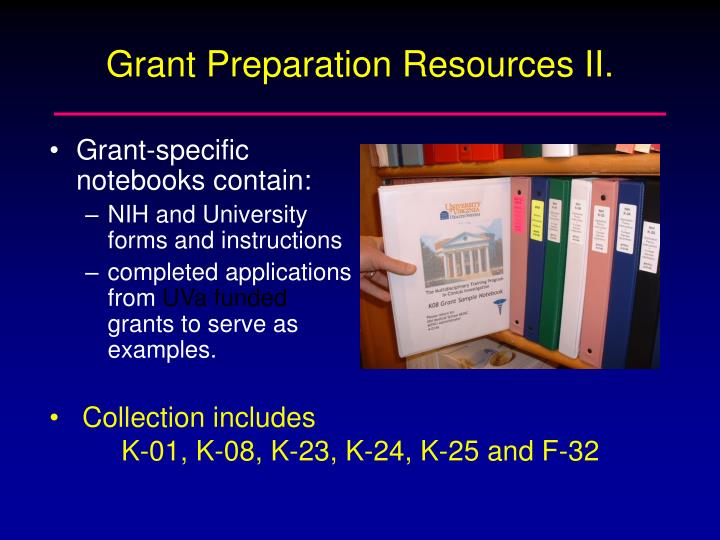 Grant Preparation Resources II.
