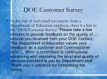 doe customer survey