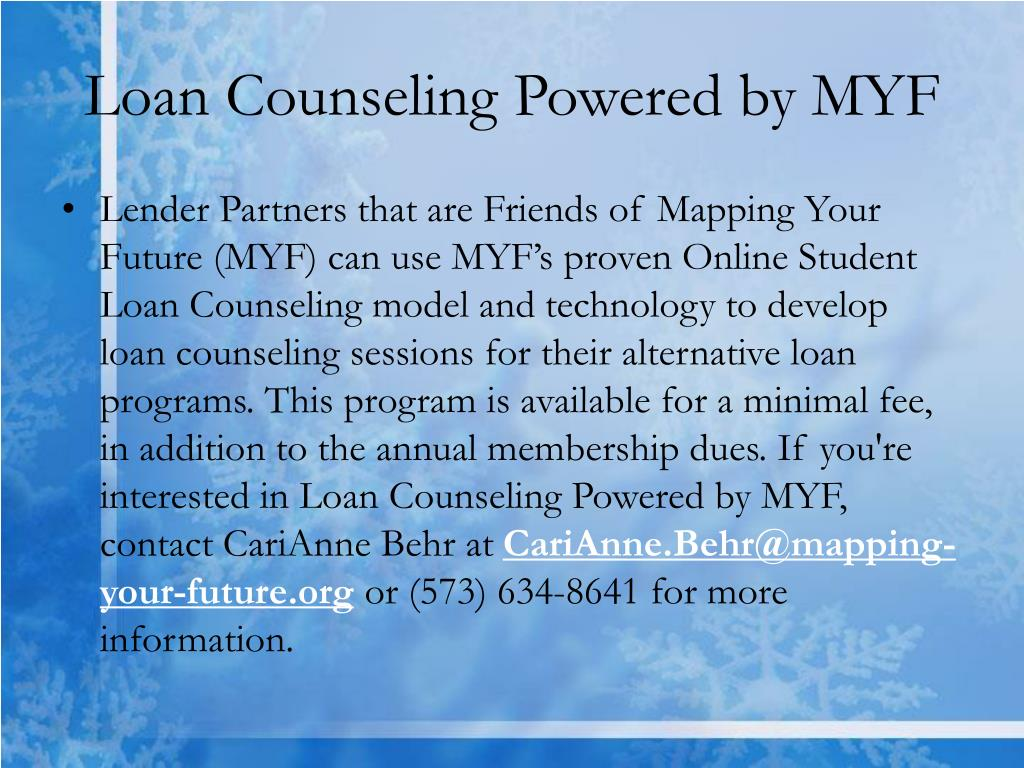Loan Counseling Powered by MYF