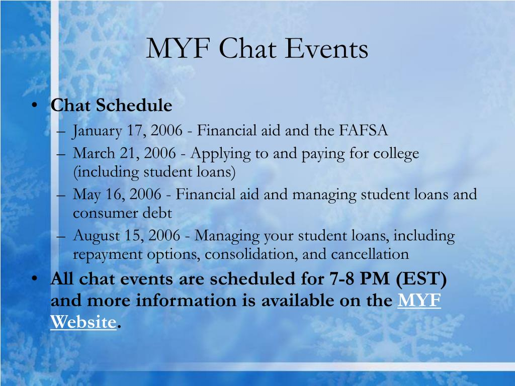 MYF Chat Events