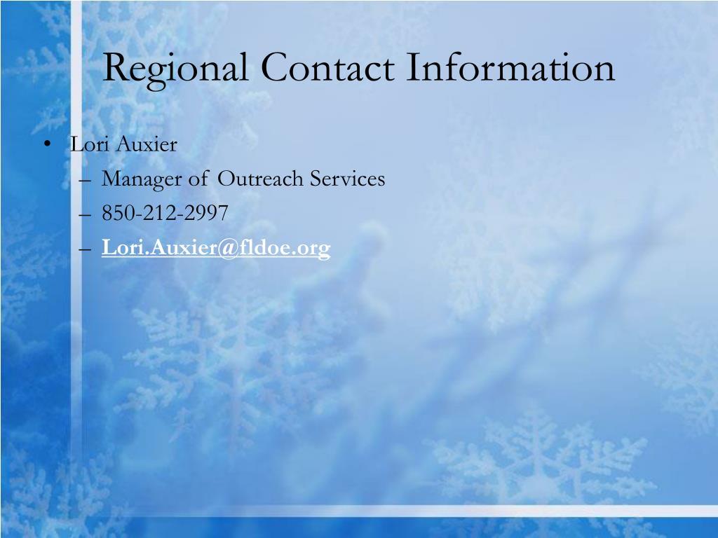 Regional Contact Information
