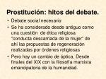 prostituci n hitos del debate