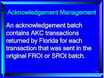 acknowledgement management119