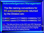 acknowledgement management121