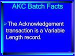 akc batch facts131