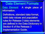 data element formats73