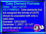 data element formats76