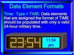 data element formats78