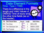data element formats80