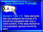 data element formats81