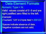 data element formats82