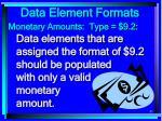 data element formats83