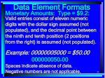 data element formats84