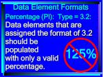 data element formats85