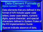 data element formats88