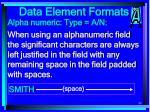 data element formats89