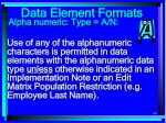 data element formats90