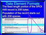 data element formats92