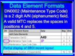 data element formats94