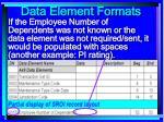 data element formats97