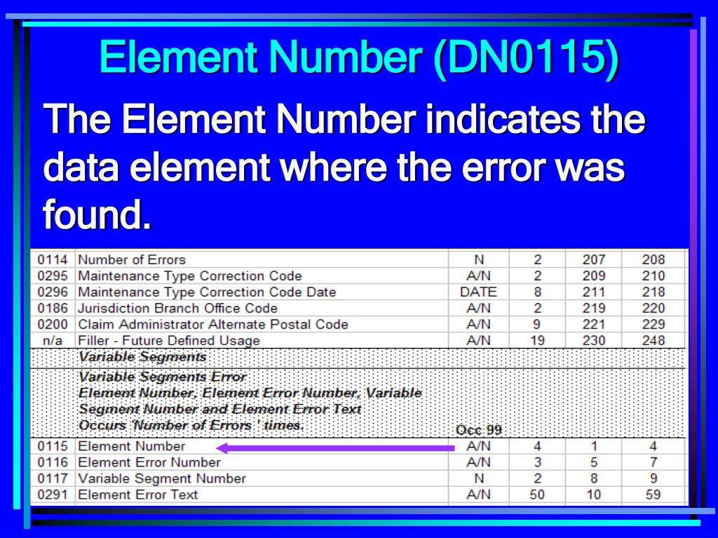 Element Number (DN0115)