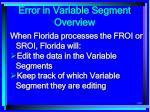 error in variable segment overview199