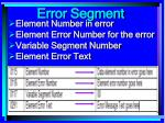 error segment