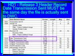 hd1 release 3 header record54