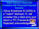 match element values not consistent with previously reported scenario188