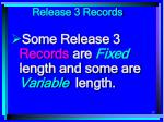 release 3 records23